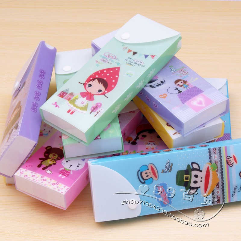 School stationery supplies cartoon plastic pencil box choula stationery box
