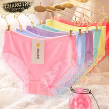 New Arrival Modal Cotton High Elasticity Candy Color Women Briefs Underwear Sexy Lace Girls Lady Underpants Knickers Panty M XL(China (Mainland))