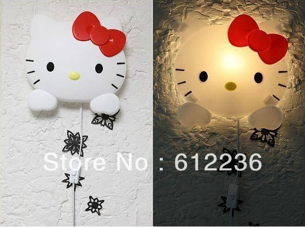 Hello Kitty Night Lights Fashion Cute Wall lamp indoor lightings beautiful romantic home decorations hot sale high quality new