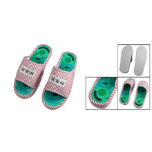 USA Stock New Ladies Striped Health Care Foot Acupoint Massage Flat Slippers in Pair