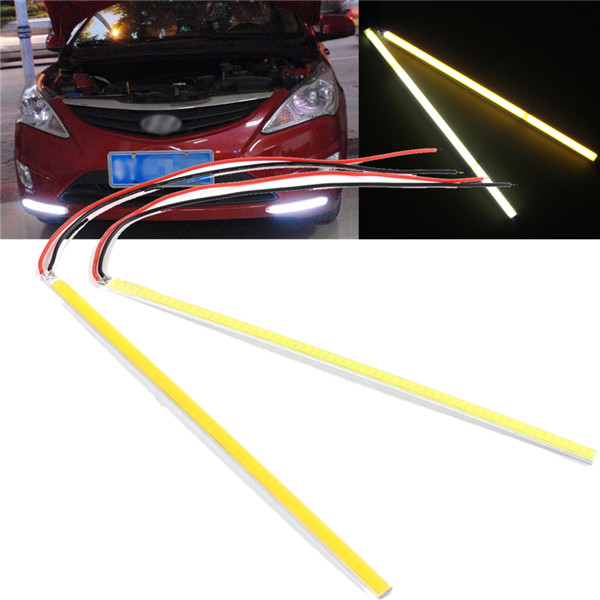 Hot Sale 5W COB 60 LED Chip Car Auto Driving DRL Daytime Running Light Lamp White 20cm Bar Strip for DIY White Warm White DC12V(China (Mainland))