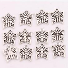 400pcs 12.8x14.8mm Antique Silver Open Papilio Butterfly Charms Pendants Jewelry DIY Fit Bracelets Necklace Earrings L1111(China (Mainland))