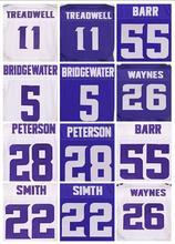 Best quality jersey 28 Adrian Peterson shirts 5 Teddy Bridgewater 11 Laquon Treadwell 55 Anthony Barr 22 Harrison Smith jersey(China (Mainland))