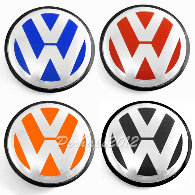 1x red blue orange blk Volkswagen VW Wheel Center Hub 65mm Cap Cover Badge Emblem 3B7 601 171 VW GOLF JETTA MK5 PASSAT B6 CC GTI(China (Mainland))
