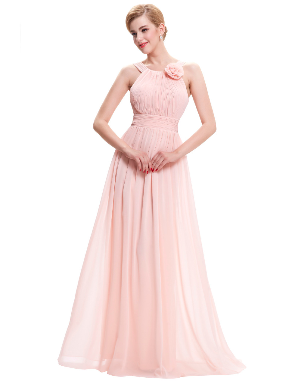 Long Pink Evening Dress 2016 New Arrival Formal Dresses
