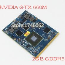 Original pour nVIDIA GTX 660 M GTX660M n13e - ge - a2 2 GB GDDR5 MXM 3.0B carte vidéo pour Dell M15X M17X M18X ordinateur portable carte graphique(China (Mainland))
