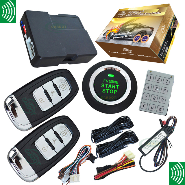 New  passwords keyless entry car alarm system with 3d smart key remotes