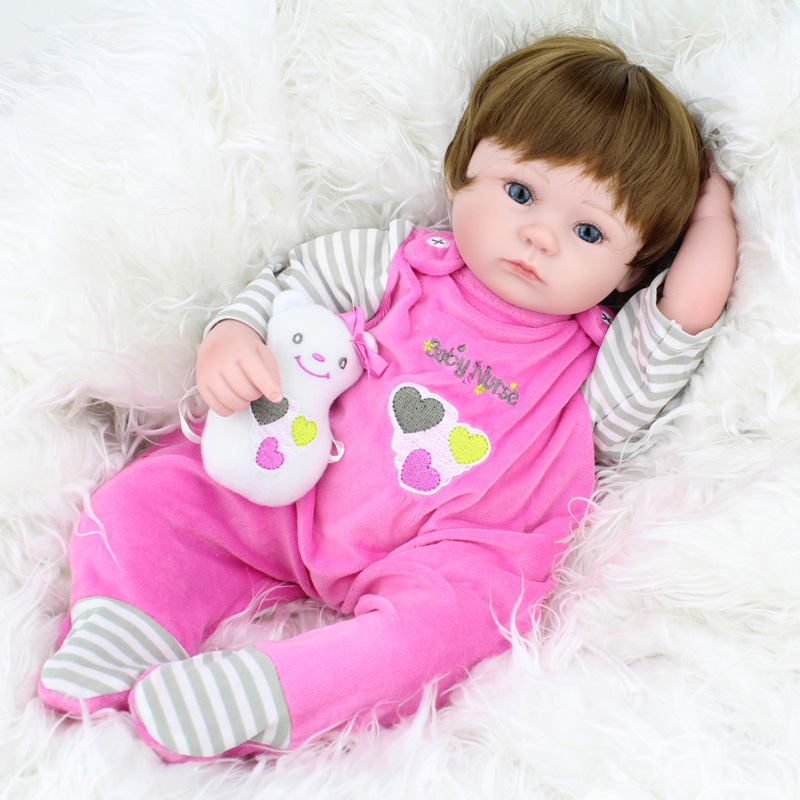 18inch 45cm Silicone baby reborn dolls, lifelike doll reborn babies toys for girl princess gift brinquedos  Childrens toys!<br><br>Aliexpress