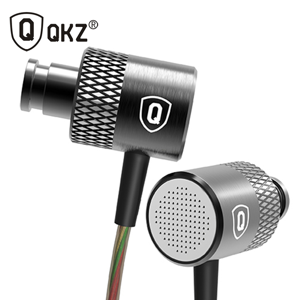 Earphone Original QKZ DM200 3.5mm in ear Earphones HIFI Metal Stereo Earphones Super Bass noise isolating fone de ouvido