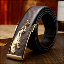 Buy high-end men's leather belt Jaguar British fashion new men casual leather belt buckle men business leather pant belts for $11.03 in AliExpress store