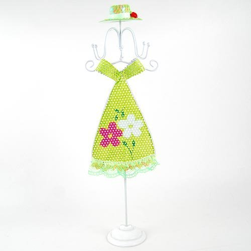 Free shipping wholesale and retail belle with green dress jewellery holder/ belle with green dress table ornament