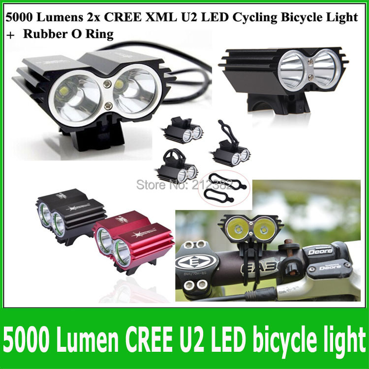 5000 lumen frontal led cree xml u2 led rechargeable bike. Black Bedroom Furniture Sets. Home Design Ideas