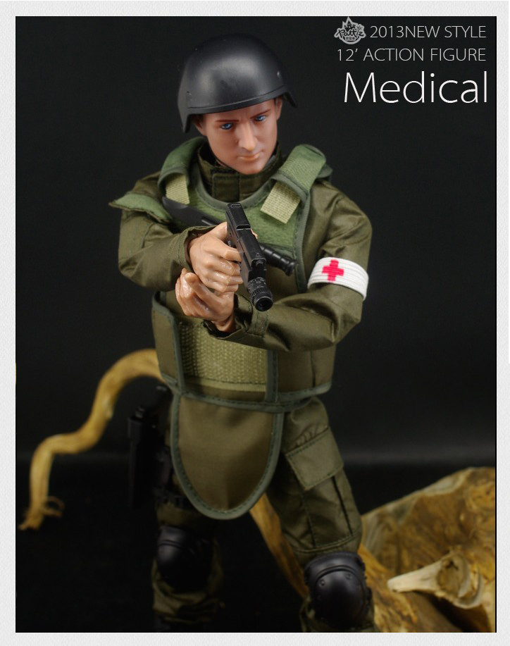Toy soldiers 1/6 Medical Soldier Toy Model Modern soldier Suit(China (Mainland))