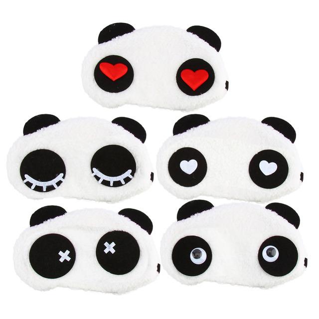 2016 мультфильм милые панды спящее лицо маска для глаз повязку оттенок путешествия ...
