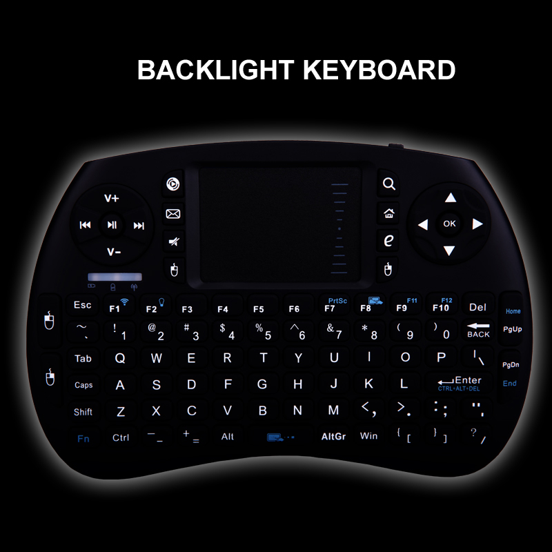 iPazzPort Backlit Wireless Mini Keyboard and Mouse for Smart TV box/Raspberry Pi 3/Intel Compute Stick(China (Mainland))