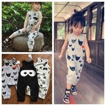 KIKIKIDS  Beau loves Unisex Baby Boys&Girls Cotton Supermen mask/Gray Cat/XO letter BodySuit one Piece beauloves(80-130cm)(China (Mainland))