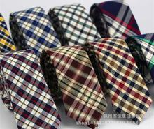 Ultra-narrow wool polyester blended students small tie Scottish striped tartan tie necktie A1-A9(China (Mainland))