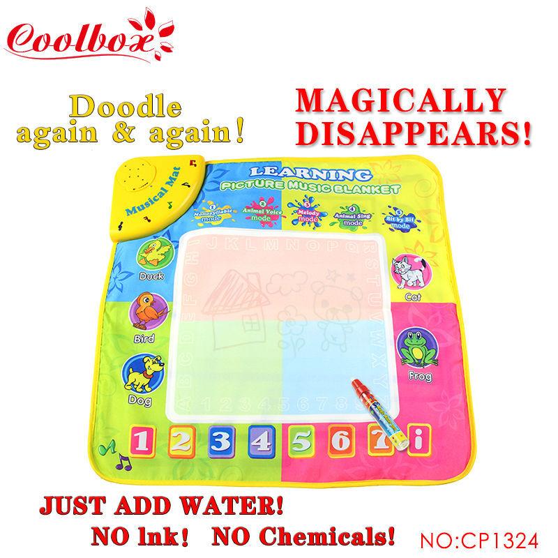Free shipping 49.5X49cm CB1324 Music Water Drawing Mat &1 Magic Pen/ Doodle Mat /Sing'n Doodle/ Aquadoodle Doodle Mat(China (Mainland))