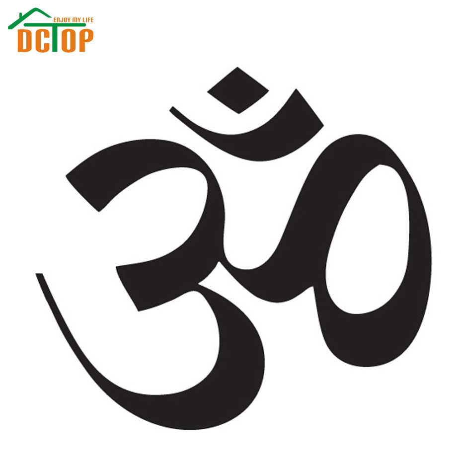 Hot Sale OM Sign Wall Sticker Yoga Removable Home Decor Living Room Art Murals Vinyl DIY Wall Decals(China (Mainland))