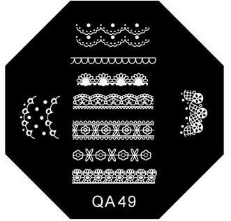 DIY fashion steel nail Stamp Stamping Image Konad Plate Print Nail Art Template Plate for Women Lady Beauty Tool 1pcs/lot QA49(China (Mainland))