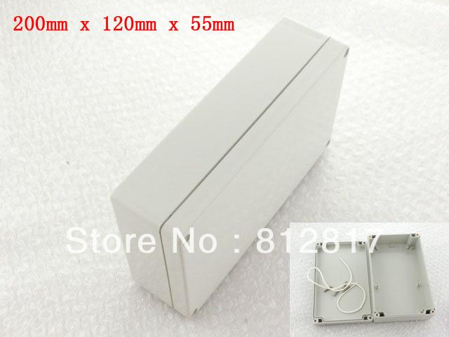 200mm x 120mm x 55mm Waterproof Plastic Enclosure Case DIY Junction Box(China (Mainland))