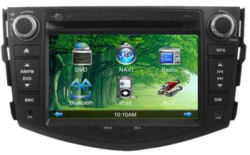 "7"" big Screen 2DIN indash Toyota RAV4 Car Stereo with GPS,TV,IPOD,Bluetooth,Radio,USB,SD RoHS/FCC certified+4G+map"