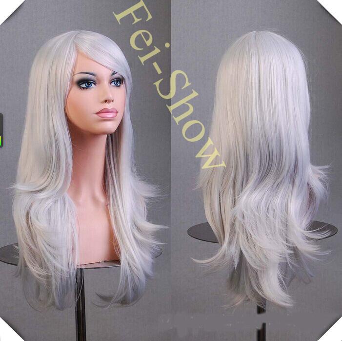Silver Wig Synthetic Heat Resistant Long Afro Kinky Wavy Lolita Wigs Mocha Hair Peruca pelucas Harajuku Anime Cosplay Silver Wig(China (Mainland))