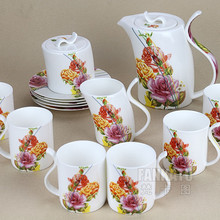 Free shipping, Rose 15 coffee set d'Angleterre black tea set cup and saucer pot set coffee cup set