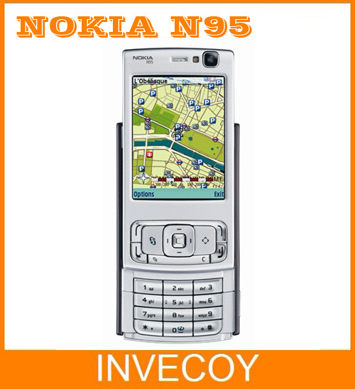 N95 Original Nokia N95 Cell Phone WIFI GPS 5MP 2.6''Screen WIFI 3G Unlocked Freeshipping(China (Mainland))