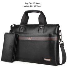 VICUNA POLO líder de vendas, ponto fashion simples, pasta de negócios masculina, bolsa de couro, bolsa de laptop casual, bolsa de ombro masculina(China)