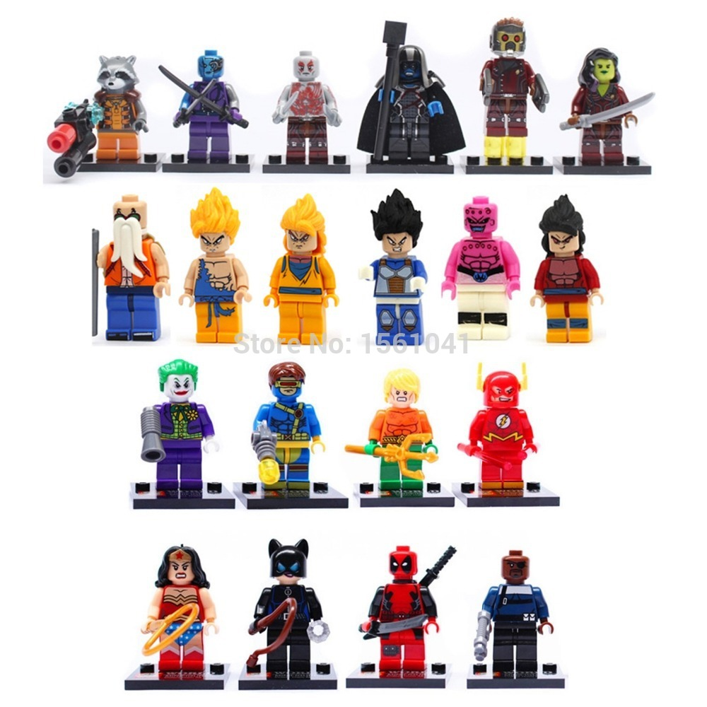 Learning & Education Promotion Minifigure Kids Action Toy IQ Exercise Guardian Heroes Model Building Blocks Mini Figures Toy-20(China (Mainland))