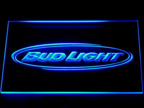 001 Bud Light Beer Bar Pub Club NR LED Neon Sign with On/Off Switch 7 Colors to choose(China (Mainland))