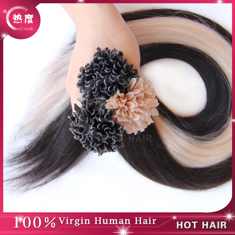Natural Black Hair U-tip Fusion Human Hair  Extensions 50g/piece Peruvian Pre-Bonded U-tip Hair  Extension Straight 1g/strand