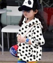 2015 Autumn baby kids boys and girls dot velvet children hoodies long-sleeved sweatshirt children clothing free shipping c5r6747(China (Mainland))