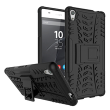 Buy For Sony Xperia C6 Case F3212 F3216 Heavy Duty Armor Hybrid Silicone Cover Kickstand Dazzle Case For Sony Xperia XA Ultra for $4.09 in AliExpress store