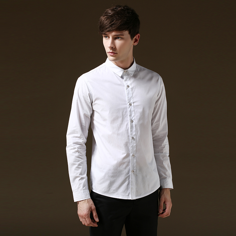 2015 mens dress shirts social high quality business casual for Mens dress shirt sleeve length