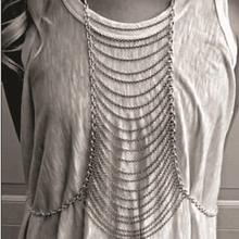 2015 New Sexy Punk Complex Multilayer Body Chains Women Jewelry Gold and Silver Metal Belly Chain