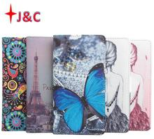 5 Painting Fashion Cubot H1 Case Flip Leather Phone Case with Card Slots & Stand Flip Cover For Cubot H1 Mobile Phone Case