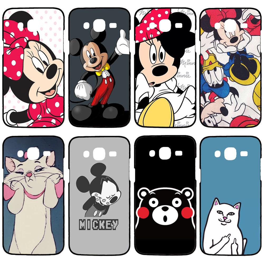 Fashion Mickey Minnie phone case for Samsung Galaxy A5 A7 J1 J5 J7 S3 S4 Mini S5 Mini S6 S7 edge cover hard black coque(China (Mainland))