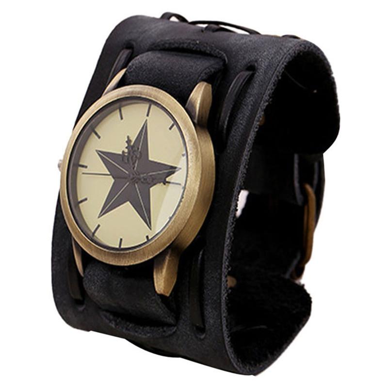 montre femme large bracelet cuir