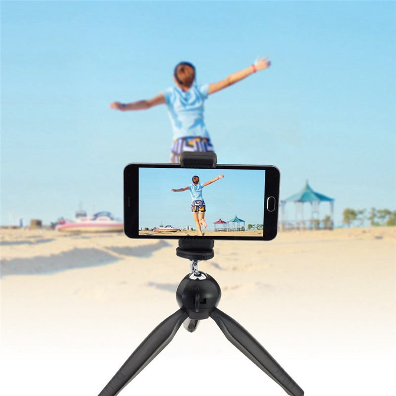Universal Phone Holder+Gopro Camera Screw, 360 Rotatable Adjustable Portable Flexible Travel Tripod For Samsung S4 S3 S2 Neo/P9(China (Mainland))