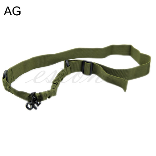 Free Shipping Tactical ACU One Single 1 Point Bungee Rifle Gun Sling Airsoft Adjustable