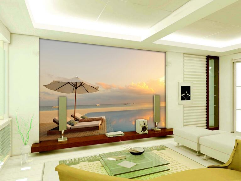 Online buy wholesale outdoor wall murals from china for 3d wallpaper for living room malaysia