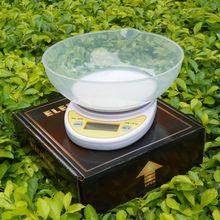 5 Kg x 1 g LCD Digital Kitchen balanza electrónica alimentación dieta Postal peso con tazón