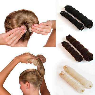 2Pcs Women Ladies Magic Style Hair Styling Tools Buns Braiders Curling Headwear Hair Rope Hair Band Accessories(China (Mainland))