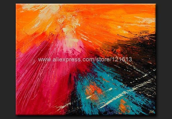 Color Focus Newart Tableau Art Abstrait Peinture Oil Paintings African Decor Large Wall Decor For Living Room Restaurant Bac(China (Mainland))