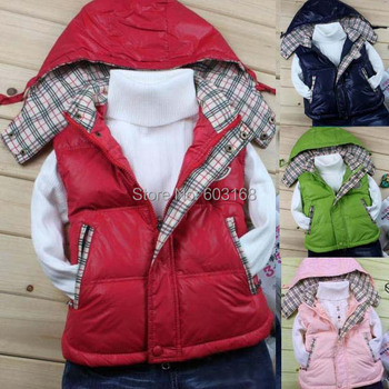 2015 Winter Factory New Excellent  Baby M0lcle Duck Down Jacket Children's Vests&Waistcoats Outerwear[iso-14-9-1-A3]