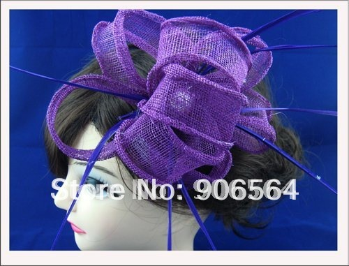 5color can be chosen sinamay fascinator hats ,fashion feather hair accessories ,Very nice,Free shipping!