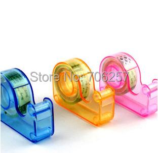 Гаджет  2015 new design cheap price Transparent Tape Dispenser free a Tape Office student tools gift  and free shipping None Офисные и Школьные принадлежности