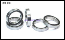 Buy 10pcs/Lot 688-2RS 688 RS 8x16x5mm Rubber Sealing Cover Thin Wall Deep Groove Ball Bearing Miniature Bearing Brand New for $3.99 in AliExpress store